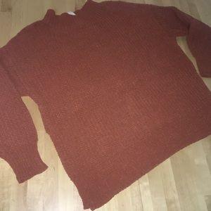 Burnt Orange Knit Sweater By Aerie